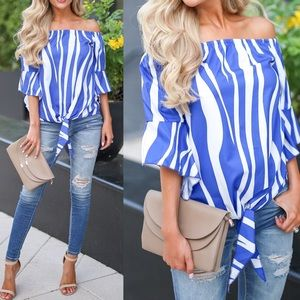 AVA Off Shoulder Print Top